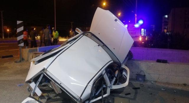 Takla atan aracın sürücüsü öldü 1 yaralı