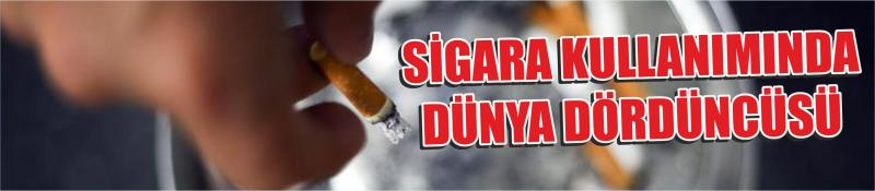 Sigara Kullanımında Dünya Dördüncüsü
