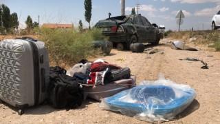 Direksiyon hâkimiyetini kaybeden otomobil takla attı: 1'i bebe 3 yaralı