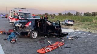 Düğün konvoyunda feci kaza: 2 ölü 4 Yaralı